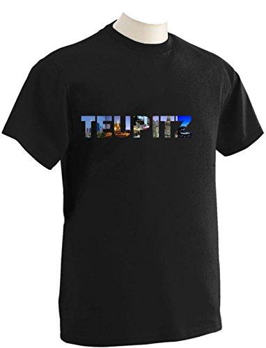 T-Shirt mit Städtenamen Teupitz Schwarz