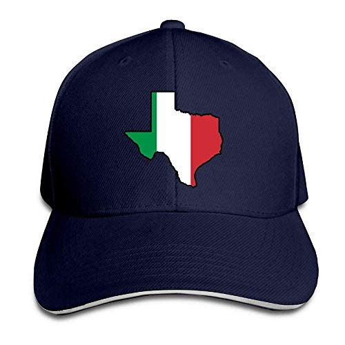 Presock Cappello da Baseball,Cappello Unisex Italian Flag Texas Map Adult Adjustable Snapback Hats
