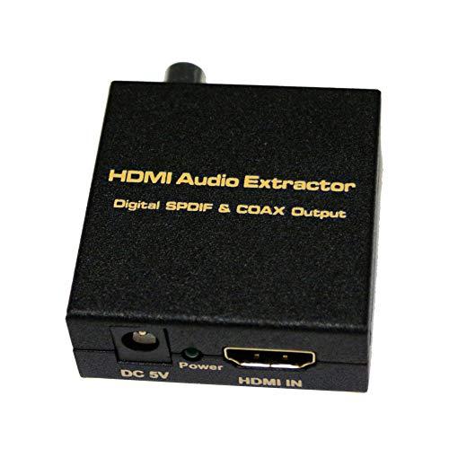 NUYAN HDMI V1.4 Digital Audio Extractor, HDMI-Eingang, SPDIF + Coax-Ausgang, Unterstützung für TDS/DUBOY-AC3high tech Matrix-port Expander