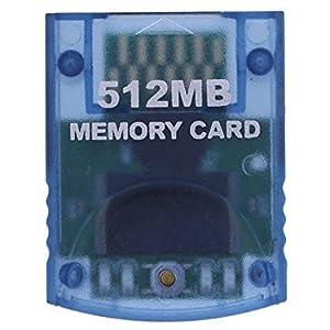 WiCareYo 512MB Speicherkarte für GameCube oder Wii Konsolen (Clear Blue)