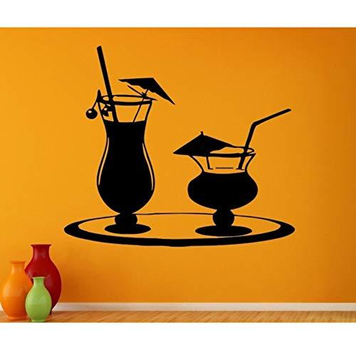Mrlwy Saft Aufkleber Kaffee Likör Aufkleber Vinyl Kunst Wandtattoos Dekor Wandbild Tee Aufkleber 40X46 Cm
