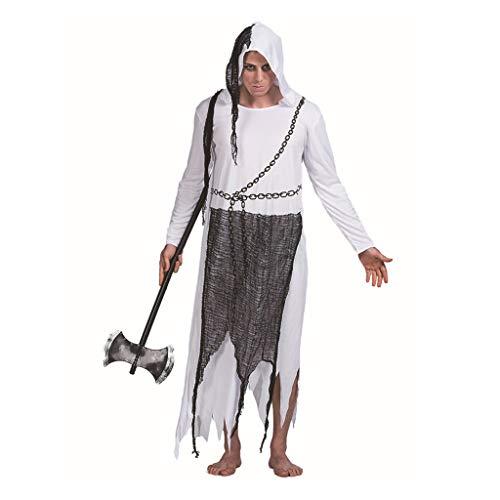 Ghost Man Kostüm Legends of Evil Halloween Cosplay Kostüm Day of the Dead Adult (Color : Black, Size : - Evil Dead Kostüm