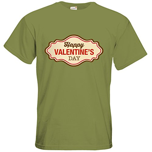 getshirts - RAHMENLOS® Geschenke - T-Shirt - Valentinstag Valentine Plakette Green Moss