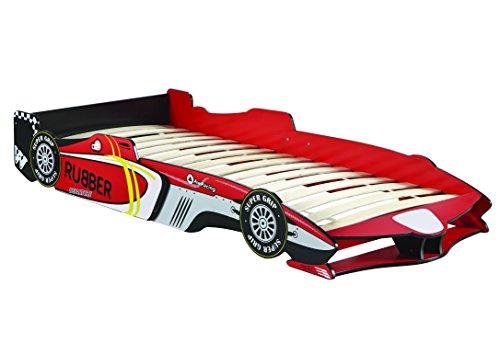 Kinderbett GTA 190x90cm 200x90cm Jugendbett Autobett rot Bett F1 Rennwagen