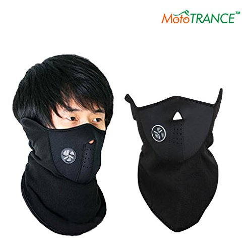 Mototrance Neoprene Half Face Bike Riding Mask (Black)  available at amazon for Rs.179