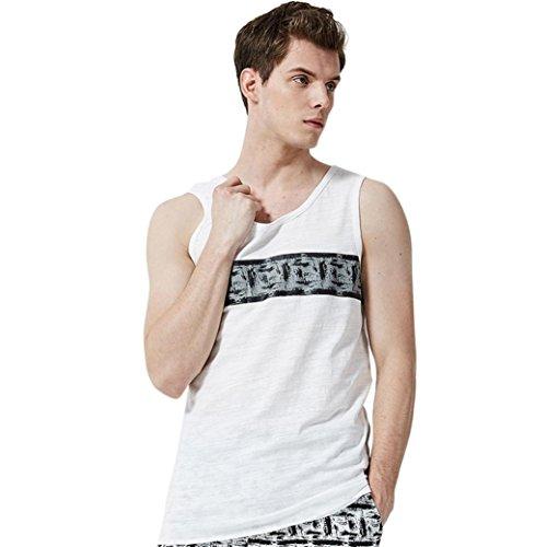 Puma Flip Flops Mann (Kinlene Herren Sommer Casual T-Shirt Pullover Ärmellose Weste T-Shirt Top Bluse (Weiß, EU XS=asiatische Größe S))