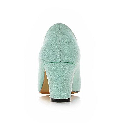 Fosco Pointy Dedo Reinziehen Pé Médio Salto Bombas Do Sapatos Em Senhoras Verdes Agoolar Vidro De Bulbo qw7aBxXWz