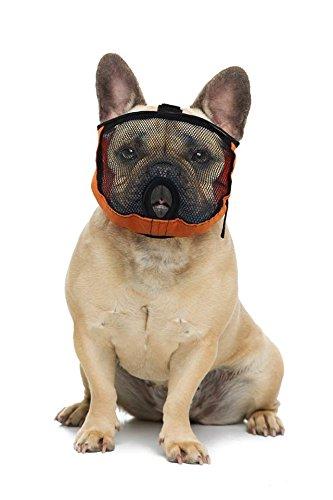 Brachycephalic Maulkorb für Hunde mit abgeflachter Schnauze: Englische Bulldogge, Französische Bulldogge, Pekingese, Shih-Tzu, Mops, auch für Katzen geeignet. (M Kopfumfang: 47-56cm) (Ohren Französische Bulldogge)