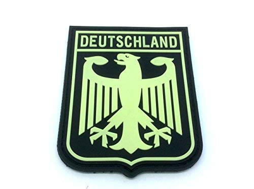 Deutschland escudo armas imperial Eagle brilla oscuridad