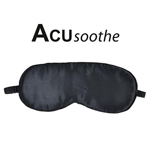 acusoothe Satin sonno maschera-Di alta qualità esclusivo occhio nero, Blinders per un sonno riposante (Sonno Eye Mask)