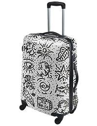 "Valise Street-Art ""Spiessert-Savebag"" 18260/69 Blanc - Grande Valise TSA rigide 69cm - 4 Roues 360°- Cap.:102 Litres"