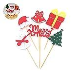 Newin Star - Juego de decoración para Tarta de Navidad, diseño de Estrella de Navidad, para decoración de cumpleaños y Fiestas