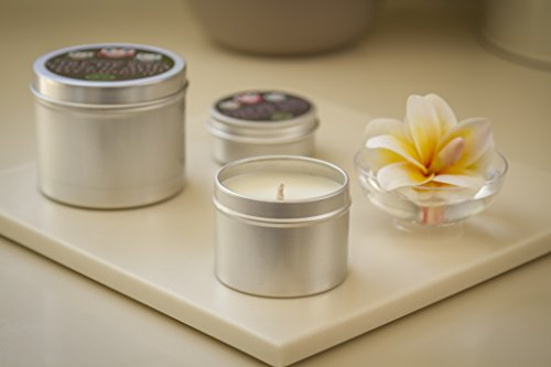 Vela artesanal ecológica vela de cera de soja y perfume de Grasse-Fleur de tiaré-100ml