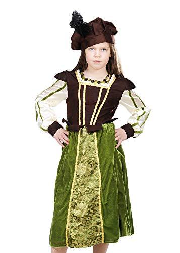 Magic Box Int. Kinder Größe Tudor Schulmädchen Kostüm Kostüm Large (9-11 Years)