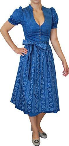 Trachten Ursula (Turi Landhaus Trachten Kleid Dirndl Ursula mit Gürtel und Schürze 70cm,)