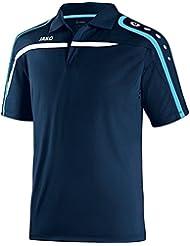 JAKO Camiseta Polo Performance - 38-40, azul marino/blanco/agua