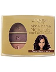 L'Oreal Made For Me Naturals Brow Shador & Duo EyeShadow 406 Dark Skin Tone