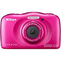 Nikon Coolpix S33 Digitalkamera (13,2 Megapixel, 3-fach opt. Zoom, 6,9 cm (2,7 Zoll) LCD-Display, USB 2.0, bildstabilisiert) pink