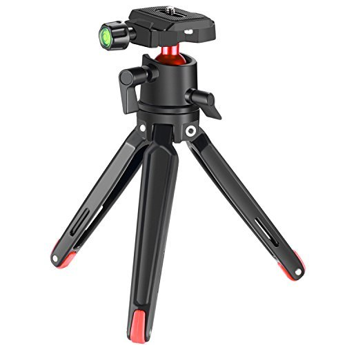 Neewer Trípode Soporte de Escritorio de Aluminio Aleación,36cm Trípode con Rosca 1/4 Pulgada Capacidad de Carga 2,7 kg para Gopro 5 4 3 + Smartphones Canon Nikon Sony Cámaras Réflex Digitales