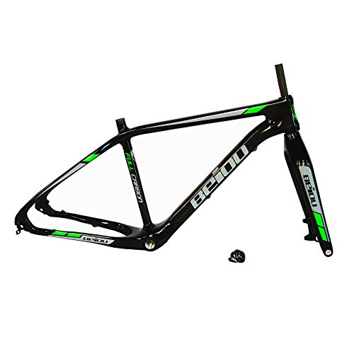 BEIOU Carbon Fiber Fat Bike Frame 19 Inch Internal Cable Routing BSA 120mm Snow bike Fat Tire 4.0