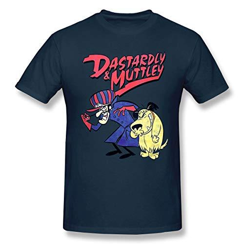 Races Wacky Kostüm - QmatSet DCI Wacky Races 'Dastardly & Muttley' Herren Komfortabel T Shirt Navy 5XL