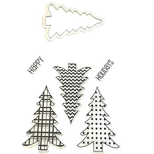 Weihnachtsbaum CLEAR STAMPS und sterben Set-5Clear Stamps & 1Weihnachtsbaum sterben - Hampton Set