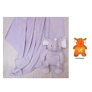 Duffi Baby- Manta Coral y Peluche, 90 x 75 cm, Color Naranja (Master Baby Home, S.L. 4072-03)