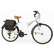 """Moma Bikes Bicicletta ibrida SHIMANO. Alluminio, 18 velocità, ruota da 26"""", con sospensione"""