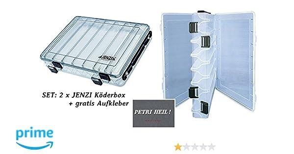 gratis Petri Heil SET 2 St/ück Jenzi K/öderbox 275 x 150 x 50 mm Aufkleber