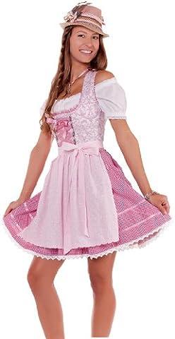 Sexy MarJo Mini Wiesn Dirndl Luzie, rosa oder hellblau, 2tlg., ca. 48 cm in verschiedenen Ausführungen, Größen:40;Farben:rosa - rosa