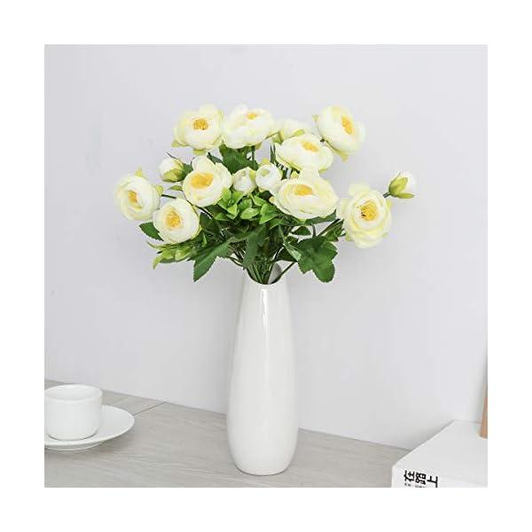 TOYANDONA 2pcs Flores Artificiales de Camelia Ramo de Plantas Falsas para Paquete para la Boda decoración del hogar…