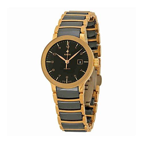 Rado Centrix Automático Rose Tono Dorado y negro cerámica damas reloj R30954152