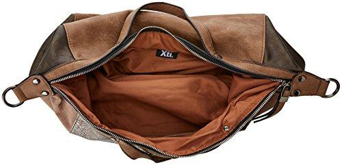XTI 85866, Borsa a spalla Donna, 42x29x14 cm (W x H x L) Marrone (Bronce)