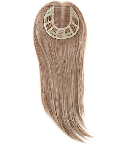 Uniwigs® Remy Human Hair Mono Hairpiece, Closure, Top Hair Piece Y-22#, Straight 16 inches for Hair Loss