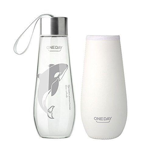 One Day sb60024 480 ml botella de agua con funda de nailon (Cristal