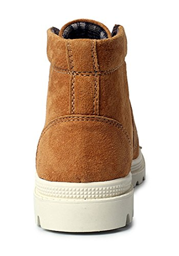 TDA , Chaussons montants homme Yellow Brown