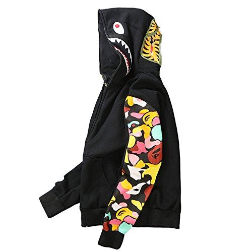 Minetom Uomo Cappuccio Maglione Moda Hip Hop Streetwear Felpa Sport ... 2ec91d87237