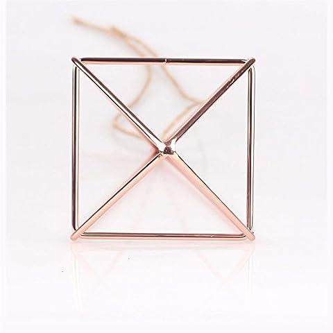Dekorative Abnehmbare Hänge Geometrische Himmeli Mobile Kranz Blumen Rack Air Pflanzgefäß 25cm Rose Gold Slim