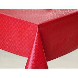 Mantel de hule, rectangular 140 x 240cm Rojo