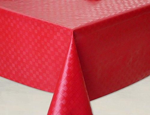 Mantel hule, rectangular 140 x 240cm Rojo
