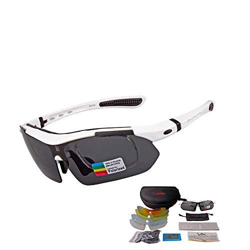 WYFDM Die polarisierte Sonnenbrille Tages-und Nachtgläser, UV-Schutz, Anti-Glare, Anti-Kratzer,White