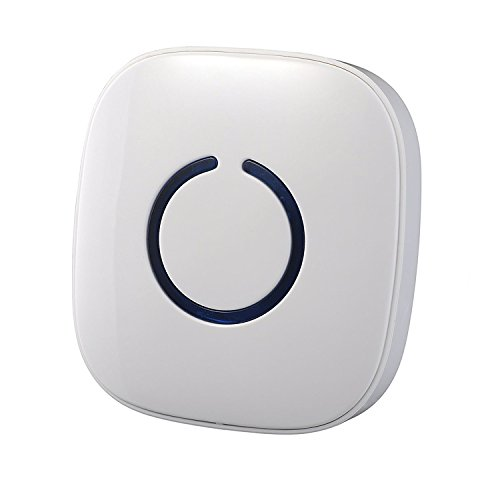[Chip Aggiornato] VicTsing Wireless Campanello della Porta Senza Fili con Ricevitore e Trasmettitore 50 Toni di Campane Tubolari, NON Batterie Necessarie per Ricevitore e Pulsante con LED, Bianco