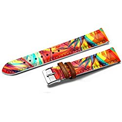 iCreat Women Leather Watch Strap Band Stainless Buckle 14MM - Colored Red, Yellow, Orange, Blue, Green Stylish And Elegant