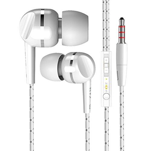 Originale Byz K11 auricolari bassi eccellenti auricolari con gli auricolari microfono per iPhone 6 6s per Samsung s7 smartphone Xiaomi redmi (bianco)