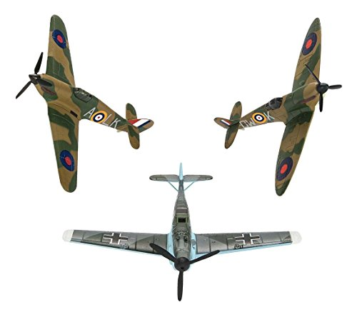 CORGI   BATTLE OF BRITAIN 75TH ANNIVERSARY FIGHTER COLLECTION: SHOWCASE SPITFIRE  HURRICANE AND BF109 (HORNBY CS90691)