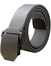 sourcingmap Men Outdoor Military Style Tactical Web Belt With Zinc Alloy Buckle Width 1 1/2