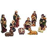 Heirloom Quality O Come Let Us Adore Him Nativity Figurine (Set of 10), Multicolor