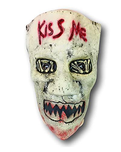 Rubber Johnnies TM, Kiss Me Mask, Disfraces de látex, día de Las Elecciones, Disfraz de Purga de Halloween