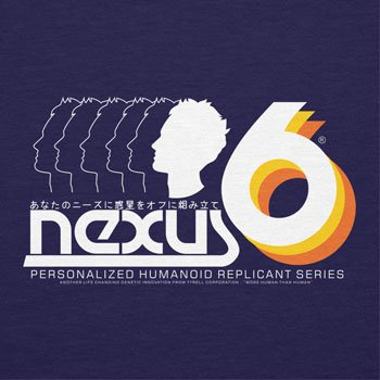 NERDO - Nexus 6 Personalized Humanoid Replicant Series - Herren T-Shirt Navy