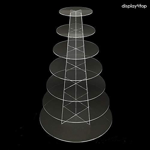 display4top Cupcake-Ständer Acryl Display für Hochzeit Geburtstag Party, New 7 Tier Round